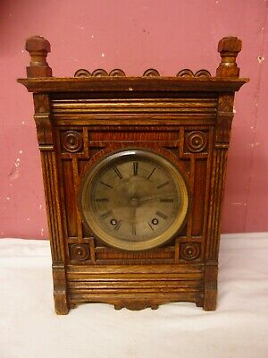 Antique Victorian Gothic Design Solid Oak Bracket Clock Winterhalder & Hofmeier
