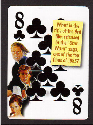 Star Wars ROTJ Carrie Fisher Harrison Ford Mark Hamill Neat Playing Card #3Y8