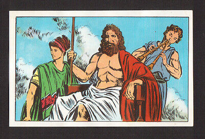 Zeus Greek God of Sky and Thunder - TinTin History of the World French Card