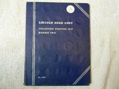 1941-1974 Pds Lincoln Cents In A Vintage Whitman Folder #0004