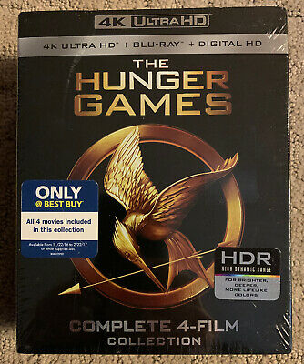 New The Hunger Games Complete 4-Film Collection (4K Ultra HD Blu-ray Digital)