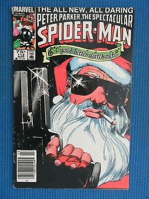 Peter Parker, The Spectacular Spider-Man # 112 - (Vg+) - Santa Claus