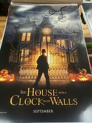 THE HOUSE WITH A CLOCK ON ITS WALLS MOVIE POSTER 2 Sided ORIGINAL Advance 27x40