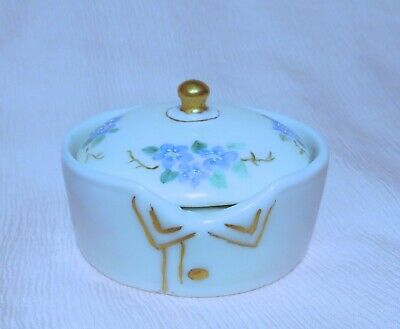 Antique Bavaria/German Hand Painted Collar Button Box~Rosenthal~Germany~Hp*Fmn's