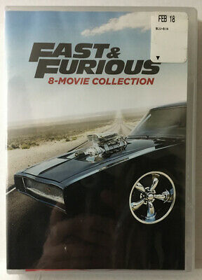 Fast & Furious Collection (New Sealed DVD, 2017, 8-Disc) Vin Diesel, Paul Walker