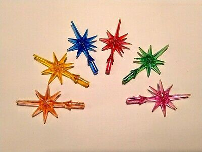 6 Snowflake Star Toppers for Ceramic Christmas Tree bulbs lights  ***SPECIAL***