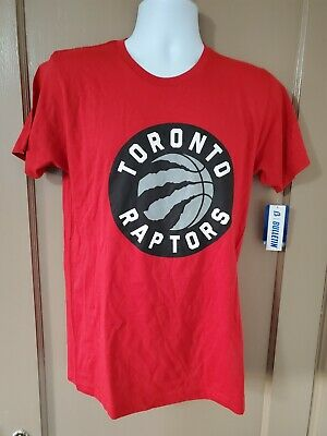 Toronto Raptors NBA  Men's Red Short Sleeve T-Shirt medium