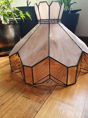 Antique Art Deco Leadlight Lampshade