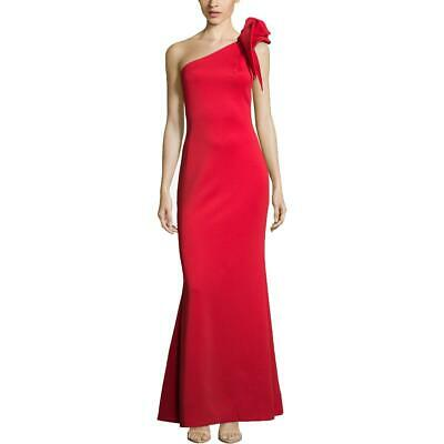 B&A by Betsy and Adam Womens Red Ruffled Evening Formal Dress Gown 14 BHFO 9387