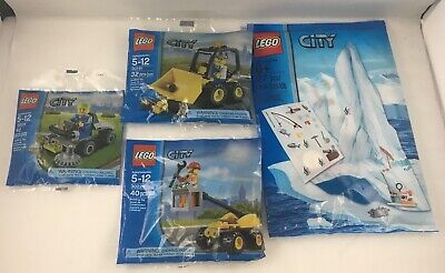 Lot Of 4 Rare Lego City Polybags 30224 + 5002136 + 30151 + 30229 Sealed