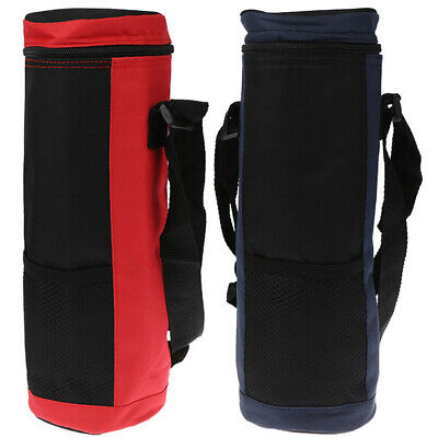 Water Bottle Cooler Tote Bag Insulated Holder Carrier Cover Pouch for Travel vg