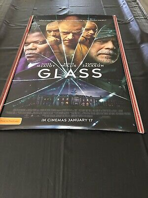 Cinema Movie Poster - Glass DC Marvell Comic Aliens Books Heros Villians Sci-fi