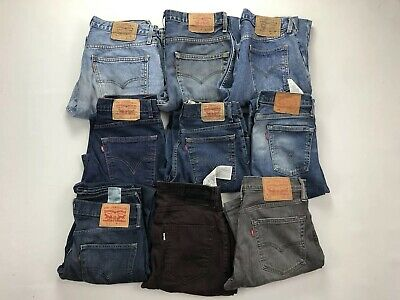 10 Pairs Grade A Wholesale Levi's Jeans - Mixed Styles - Job Lot Jeans GRADE A