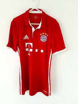 Bayern Munich Home Shirt 2013. Small Adults. Adidas. Red Football Top Only S.
