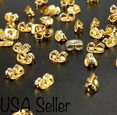20 Gold Plated Earring Back Stoppers Butterfly Shaped