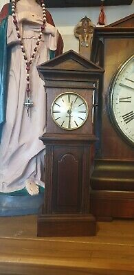 Antique Miniature Grand Father Long Case Clock Gwo