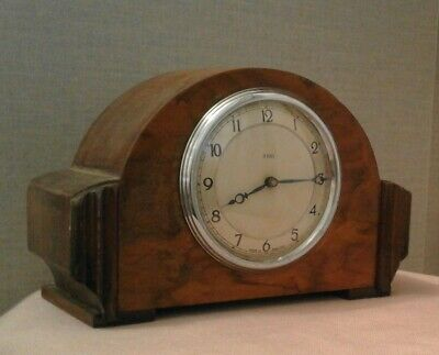 Vintage Art Deco Smiths 8 day wind up mantle clock