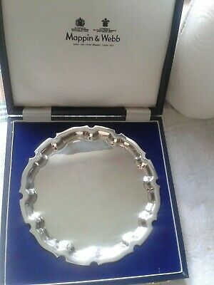 Stunning MAPPIN & WEBB unused silver plate tray boxed