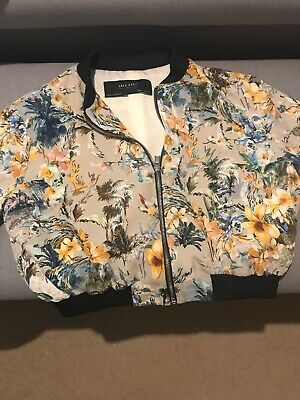 Ladies Girls Teenage Zara Basic Bomber Style Jacket Size 10