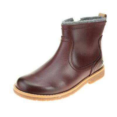 Clarks Tildy Moe Inf Girls Burgundy Warm-lined Ankle Boot size uk kids zip