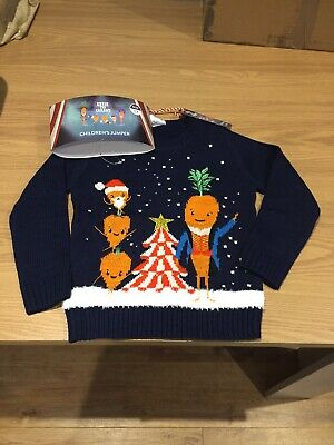 Kevin The Carrot Christmas Jumper Age 5-6 Years New With Tags