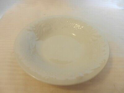 White Ceramic Cereal Soup Bowl From Gibson Embossed Fruit Design