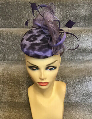 Ispirato Amethyst Fascinator Ideal For Races, Wedding Brand New