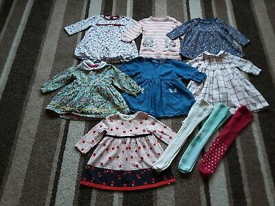 06Bg Baby Girls 3-6 Months Large Winter Bundle Seven  Dresses Three Tights