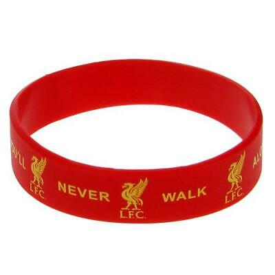 Liverpool Fc Silicone Wristband Red White Football Logo You'll Never Walk Alone