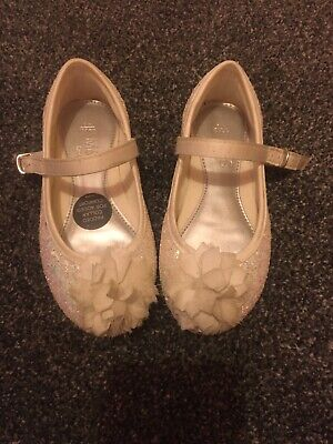 M&S Marks And Spencer Girls Party Sparkly Sandals Shoes Size Infant 8