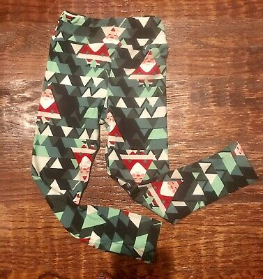 lularoe kids leggings s/m christmas Santa  Leggings EUC