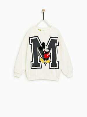BNWT Zara Girls Mickey Mouse Sweatshirt 90th Anniversary Edition Size 9 Year Old