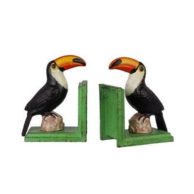 Cast Iron Pair Of Toucan Book Ends Best Quality Set Of Two See My Other Items
