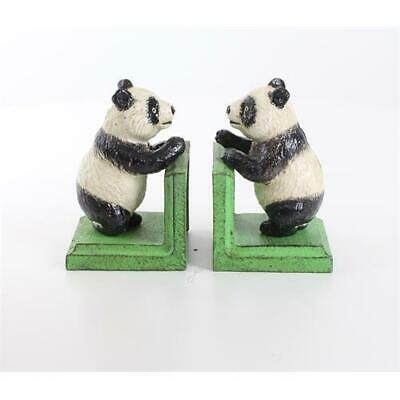 Cast Iron Pair Of Panda Bear Book Ends Best Quality Set Of Two See My Items