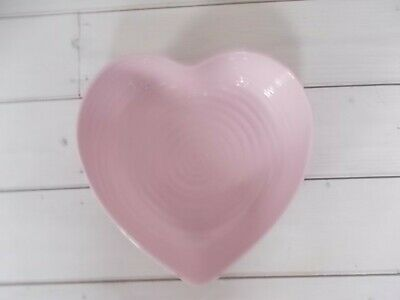 Portmeirion Sophie Conran Large Pink Heart Spiral Dish. Brand New