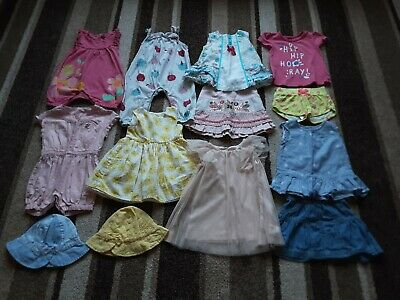 18Bg Baby Girls 6-9 Months Beautiful Bundle Of Summer Dresses Skirts Tops