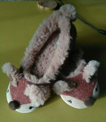 Super-cute Fat Face girls fluffy slippers size 3 (36) hardly worn