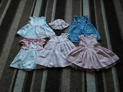 71Bg Baby Girls 6-9 Months Beautiful Bundle Of Dresses Next M&Co