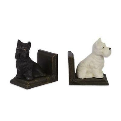 Cast Iron Pair Of Scottish Terrier Book Ends Best Quality  See My Other Items