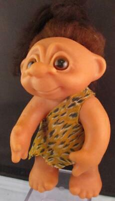 "Vtg 1977 Thomas Dam Caveman Troll Doll 9"" Movable Arm #604 Excellent"