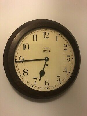 Antique Smiths Wall Clock, Totally Original, Beautiful Condition. Station/School