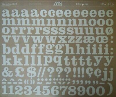 Mecanorma WHITE Letter & Number Transfers CLARENDON BOLD 30mm #85.120 O