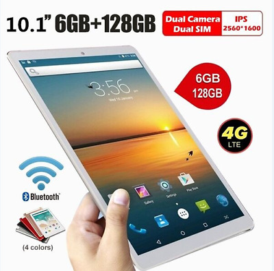 10.1 inch HD IPS Tablet PC, Android, 8000mAh Battery, 6G+128G, OTG Bluetooth GPS