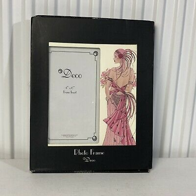 Beautiful Art Deco Style Design Picture / Photo Frame / Woman In Pink