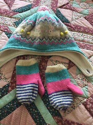 Boden Girls Hat And Gloves Set - Age 3/4 Years