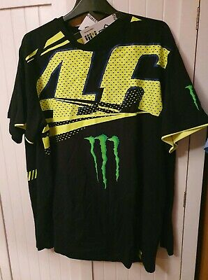 VR46 Official Valentino Rossi Motorcycle T-Shirt - Black Size XL