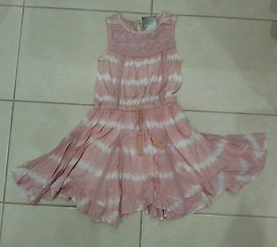 BNWT NEXT girls pink summer dress 4-5 years (110cm).