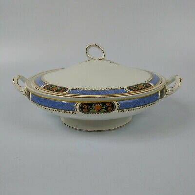 Antique J and G REG SOL Hand painted Tureen and Lid
