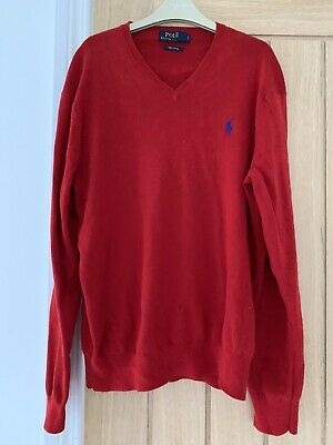 Mens Red Polo Ralph Lauren Jumper Size Small