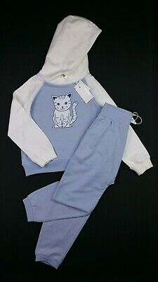 Girls Clothes PUMPKIN PATCH Cat Blue Tracksuit Hoodie & Joggers 5 Years 115cm BN